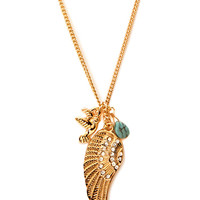 Boho Moment Feather Pendant Necklace