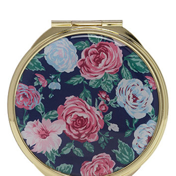 Rose Print Compact Mirror