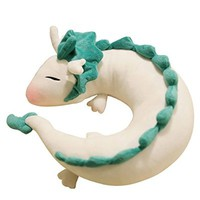Anime Miyazaki Hayao Spirited Away Haku Cute Doll Plush Toy Pillow Neck U-Shape Cute Soft b2