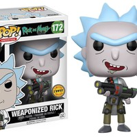 "Funko Pop CHASE Weaponized Rick - Rick And Morty 3.75"" Vinyl Figure IN STOCK"
