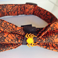 Halloween Spider Bow Tie Collar for Dogs and Cats