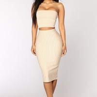 Top Of Your Class Stripe Set - Blush
