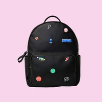 I Am Here PU Leather Backpack
