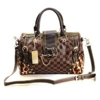 Louis Vuitton LV  Fashion Leather Travel luggage Tote Handbag Satchel Shoulder Bag