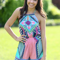 All the Hype Romper - Coral