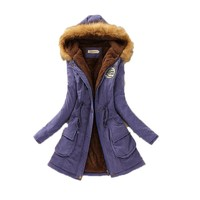 Autumn Parkas Winter Jacket Women Coats Female Outerwear Casual Long Down Cotton Wadded Lady Woman Fashion Warm