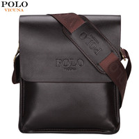 VICUNA POLO Famous Brand Classic Design Leather Mens Messenger Bags Promotional Casual Business Man Bags Shoulder Bag Briefcase