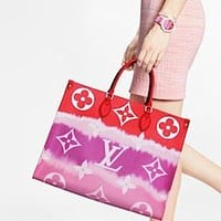 Louis Vuitton LV Women Shopping Leather Tote Handbag Shoulder Bag Chain Bag