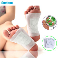 50 Pcs/lot Kinoki Detox Foot Pad Patch Massage Relaxation Relief Stress Tens Help Sleep Body Neck Feet Massager Bamboo C032