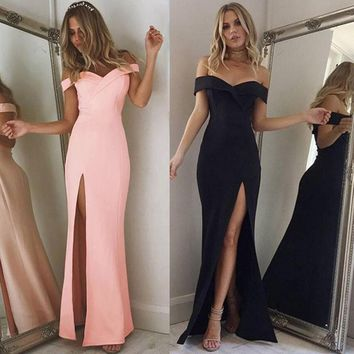 Sweetheart Off-the-Shoulder Maxi Gown