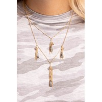 Luxe Four Layered Fringe Necklace