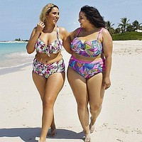 XL-5XL push up plus size women swimwear Bathing Suit