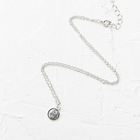 Hamsa Stamp Disc Pendant in Silver - Urban Outfitters