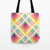 Retro Rainbow Tote Bag by Fimbis