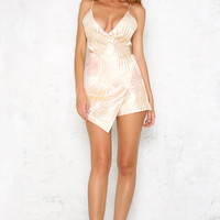 Palms And Sunshine Playsuit Gold