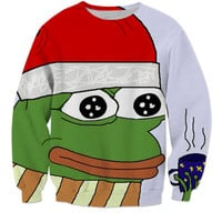Christmas pepe the frog sweater
