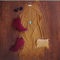Georgia Suede Dress
