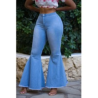 TOBI Women's Wide Leg Denim