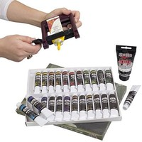 Complete Beginner/Student Travel Acrylic Set + FREE 75ml White and Tube Wringer: SoHo Urban Artist Acrylic Value Set of 24 21ml Tubes with an additional 75ml Tube of SoHo Titanium White - Artist Grade Acrylic Paints - Glossy. Get the most out of your paint