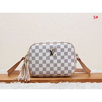 LV Louis Vuitton Women New Fashion Plaid Monogram Print Leather Shopping Leisure Shoulder Bag Handbag 5#