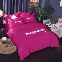 SUPREME Bedding Blanket Quilt coverlet Pillow shams 4 PC Bedding SET