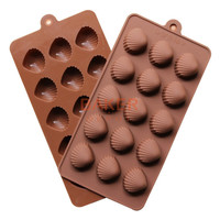 Silicone molds new 15 lattices cracker moulds chocolate mold ice cube shell molds SICM-115-5