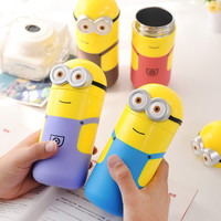 Despicable Me 2 Minions Vacuum Flasks Stainless Steel Thermos Mug 240ml Child Kid Thermal Bottle Thermocup Gifts