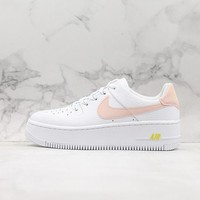 Nike Wmns Air Force 1 Sage Low White/ Pink Sneakers - Best Online Sale