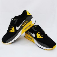 Nike Air Max 90 Running Shoe Essential Black/Yellow/Grey