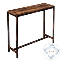 """Rolanstar Rustic Bar Table Narrow, 47.2"""" Pub Dining High Table Bistro Table with Metal Frame (Indoor Use Only),BT001-A"""