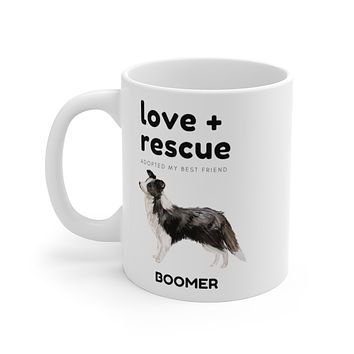 love + rescue Mug — Border Collie