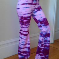 Tie Dye Yoga Pants Pink, Rasberry, and Teal