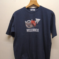 25% SALES ALERT Vintage 90's Moschino Jeans T Shirt Street Wear Swag Top Tee Urban Fashion