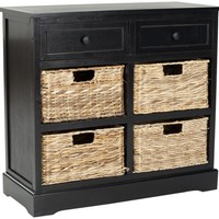 Herman Storage Unit Distressed Black