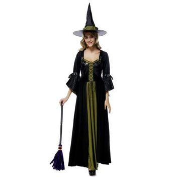 Halloween Witch Cosplay Costume Dress