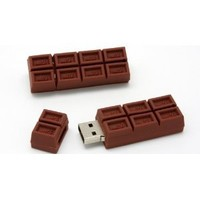 Chocolate Bar USB Flash Drive - Data Storage Device - 4GB - Key Ring Included