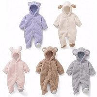 2018 Hot Selling Fashion Baby Boy Girl Clothes Newborn Toddler Long-sleeved Hooded Romper Jumpsuit Infant Clothing Set Outfits