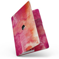 "Pink 971 Absorbed Watercolor Texture - 13"" MacBook Pro without Touch Bar Skin Kit"