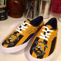 Hufflepuff hand painted shoes