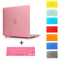 Free Shipping Rubberized Crystal/Matte Hard Laptop Case Cover For Macbook Pro 13 15 Retina Air 11 13+ Keyboard Cover+screen film