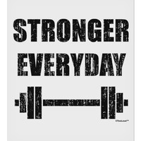 """Stronger Everyday Gym Workout 9 x 10.5"""" Rectangular Static Wall Cling"""