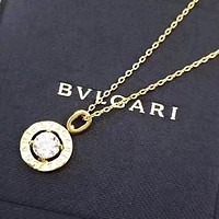 Bvlgari Fashion new diamond pendant women necklace women Golden