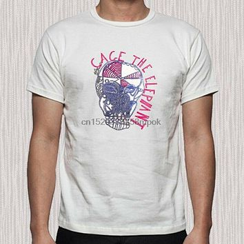 Cage The Elephant First Album Cover Logo Mens White T Shirt Size S to 3XL|T-Shirts