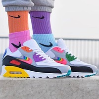 NIKE AIR MAX 90 color women's sports running shoes