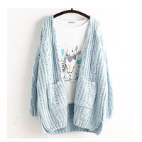 Mori Girl Spring Women Sweet Large Size Casual Cute Loose Cardigan Solid Outerwear Lolita Cute Kawaii Female Sweater Ruffle U218-in Cardigans from Women's Clothing & Accessories on Aliexpress.com | Alibaba Group