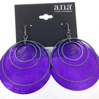 A.N.A Purple Shell Earrings