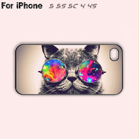 Cute Cat,Sunglass,iPhone 5 case,iPhone 5C Case,iPhone 5S Case, Phone case,iPhone 4 Case, iPhone 4S Case