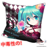 New Hatsune Miku - Vocaloid Anime Dakimakura Square Pillow Cover H0203