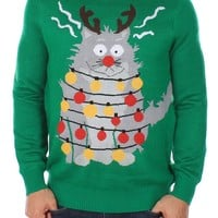 Ugly Cat Christmas Sweater | Tipsy Elves