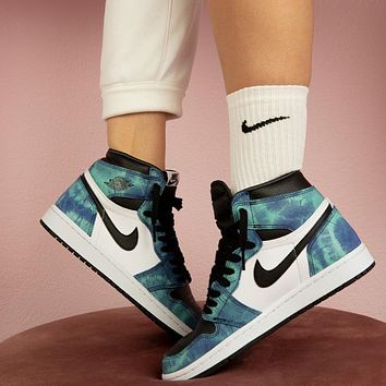 Nike Air Jordan 1 Retro High Tie Dye Basketball Shoes Sneakers Shoes